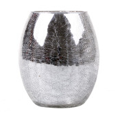 BLOOM & BLOSSOM Ostrich Vase Small - Silver