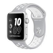 APPLE Watch Series 2 Nike+  MQ192 42mm Silver Aluminum Case with Flat Silver/White Nike Sport Band
