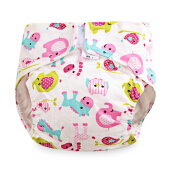Cartoon Cloth Diaper Cotton Nappy for Babies Animal Head