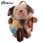 METOO Animal Design Boys Girls 3D Cute School Anti-lost Kids Kindergarten Bag BROWN DOG 24 X 6 X 30CM