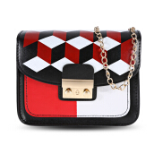 Guapabien Geometric Patterns Chain Shoulder Crossbody Bag