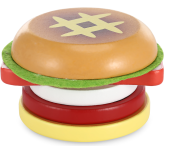 Magnetic Hamburger Shape Simulation Wooden Sliced Toy