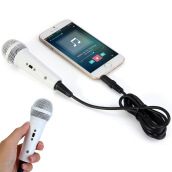 Mini Condenser Wired Karaoke Microphone with 3.5mm Audio Plug