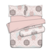 ELEGANCE Sarung Quilt Cashmere Chartres - Pink King 240x210 cm