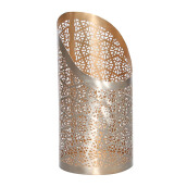 VIVERE Hurricane Candle Holder Halfy Crack - Silver / 31X15X15cm
