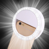 Portable Mobile Phone Selfie Light Ring Clip-On Luminous Lamp For Iphone