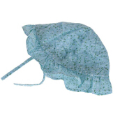 Spring Autumn Floral Print Baby Girls Sun Protection Hat BLUE