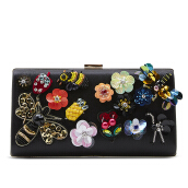 NEW COLLECTION Medium Beads Clutch - Flower Bee