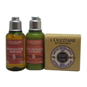 L'OCCITANE Trio Hair & Body (Aromachology Shampoo 35ml, Aromachology Conditioner 35ml, Shea milk soap 50gr)