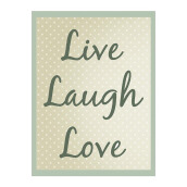 NAIL YOUR ART Live Laugh Love Wall Clock/32x24Cm