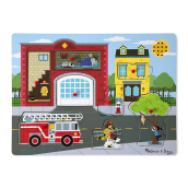 MELISSA & DOUG Around the Fire Station Sound Puzzle MD-736