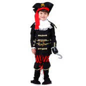 HOUSE OF COSTUMES Pirate Captain B-0142 - Black