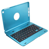Vinmori Bluetooth Keyboard Case for iPad Mini 1 2 3 Wireless Keyboard for Tablet Foldable Stand Cover Holder