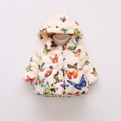 BESSKY Baby Infant Autumn Winter Hooded Butterfly Coat Cloak Jacket Thick Warm Clothes_