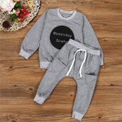 BESSKY Toddler Kids Baby Girls Boys Outfit Clothes Long Sleeve T-shirt Tops+Pants 1Set_