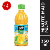 MINUTE MAID Pulpy Mango PET Botol 350mlx4pcs