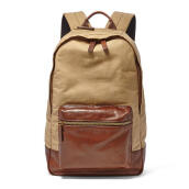 FOSSIL Estate Leather Backpack Khaki Mens [MBG9298-250]