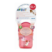 AVENT SCF760/00 12m+ Straw Cup Single - Pink