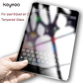 Keyamo Apple ipad 6/ipad Air 2 Pelindung Layar screen protector glass Toughened Protective guard Tempered Glass TRANSPARENT