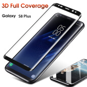 Keymao Samsung Galaxy S8 Plus 3D+Edge screen protector Tempered Glass Full Cover Hard
