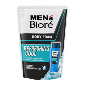 MEN'S BIORE Body Foam Refreshing Cool Pouch 450 ml