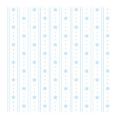 SANRIO Wallpaper Blue Stripe Stars KT-157