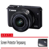 Canon EOS M10 Kit 1 15-45mm f/3.5-6.3 IS STM - Hitam Black