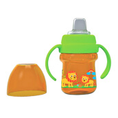 BABY SAFE Cup with Silicone Spout 125ml - Orange Lion