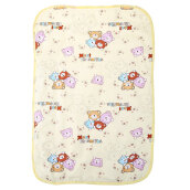 Portable Waterproof Cartoon Print Urine Mat Nappy Cover Pad for Infant Babies (yellow middle)