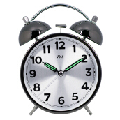 TXL Metal Needle Classic Alarm Clocks Antique Silent Loud Alarm Kids Table Clock Bell Night Light Large Number Table Clock