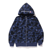 A BATHING APE X Champion Champion Color Camo Zip Hoodie - Navy