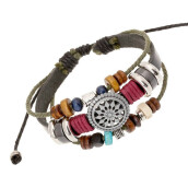 BESSKY Vintage Bohemia Wind Beaded Multilayer Hand Woven Bracelet- Multicolor