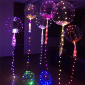 BESSKY 20inch Luminous Led Balloon Transparent Round Bubble Decoration Party Wedding _ Multicolor