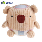 METOO Home Bedside Plush Pat Nightlight for Children(Khaki little bear)