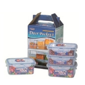 LOCK & LOCK Lunch Box 4 Pieces Set W/Color Box (HPT807BS)