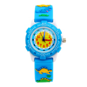 Keymao Dynasour Plastic Waterproof 3D Cute Cartoon  Silicone Wristwatches Gift for Little Girls Boy Kids Children