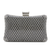 NEW COLLECTION Medium metallic clutch - Black
