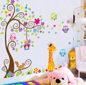 JDwonderfulhouse Removable Children Cartoon Wallpaper - multicolor