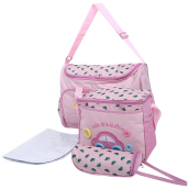 3pcs Multifunctional Car Pattern Zipper Cloth Mummy Bags for Mothers(Pink)