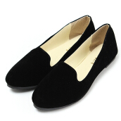 Women Ballet Faux Suede Leather Ballerina Dolly Flats Pumps Shoes Loafers