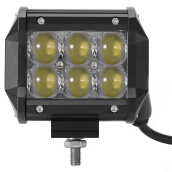 2pcs 4 inch DC 10 - 30V 30W Car LED Flood Work Light 6000K 3000LM 4WD ATV Off-road Driving Lamp