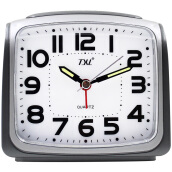 TXL Large Digital Alarm Clock Silent Nightlight Alarm Clock Smart Light Sensor Dimmer Snooze Travel Desk Clock