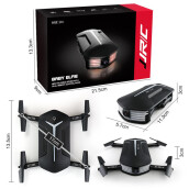 BESSKY JJR/C H37 BABY ELFIE RC Quadcopter Headless Mode 4CH Drone Selfie Toys 3 Battery- Black