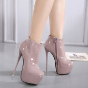 Trendy Pink Solid PU Boots