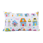 JOYLIVING Cushion Fancy Rectangle Printed Home 30 x 50 (cm) - White
