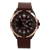 Masculino Leather Strap Watch Men's Quartz Wristwatches NAVIFORCE NF9056