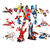 ENLIGHTEN D12 Toy Transformers Compatible with LEGO blocks for 6 years old kid 506pcs blocks
