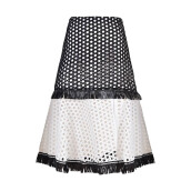 ALEXIS Elisa Embroidery Lace Skirt - Black
