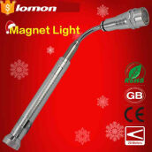 Lomon Telescopic Flexible 3 LED Neck Pick Up Magnetic Tool Light Work Lights Led Torch Flashlight magnetic Button Battery Extendable Bending Torch
