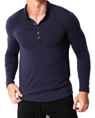 Men's Long Sleeve T-shirt - Dark Blue
